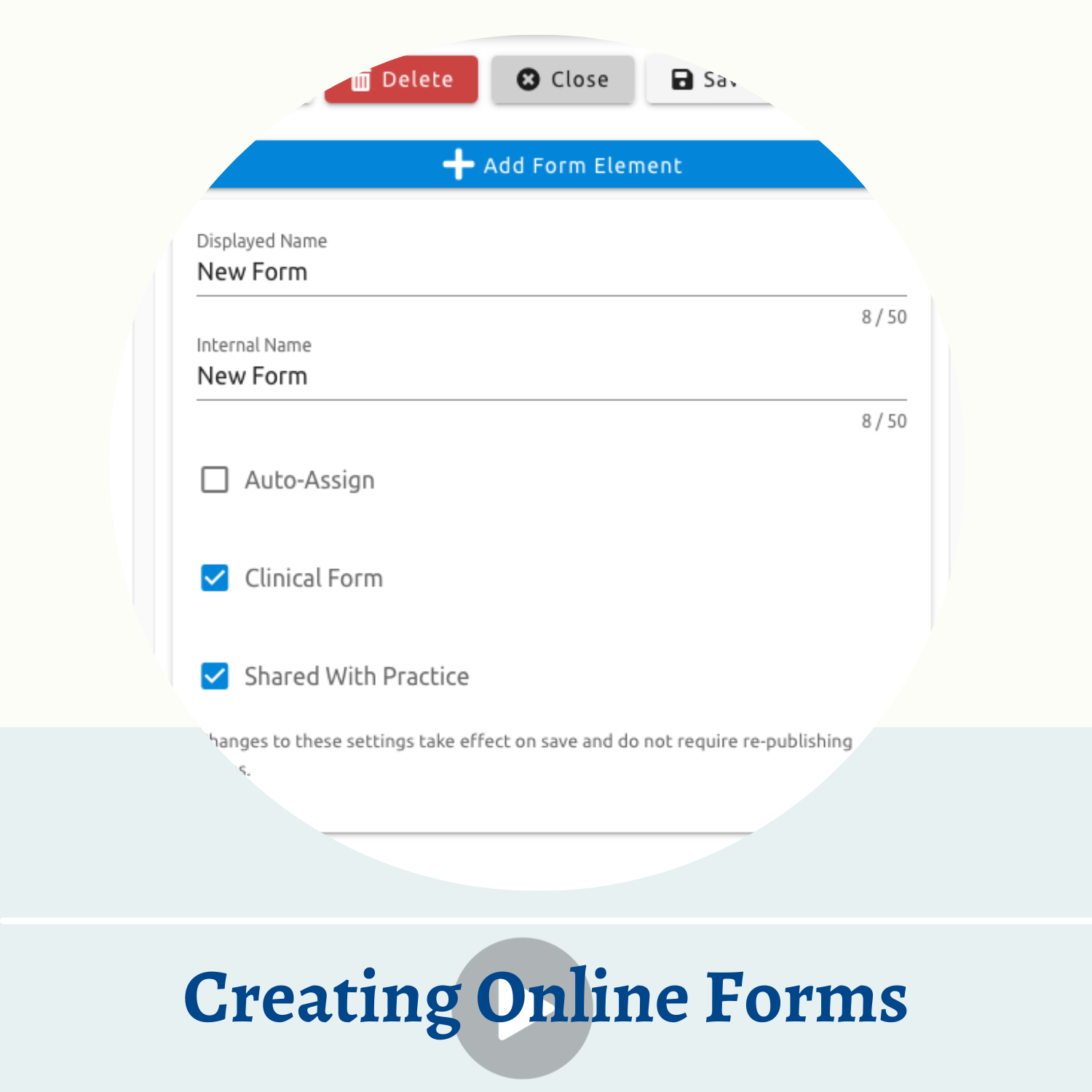 Creating Online Forms Video Thumbnail
