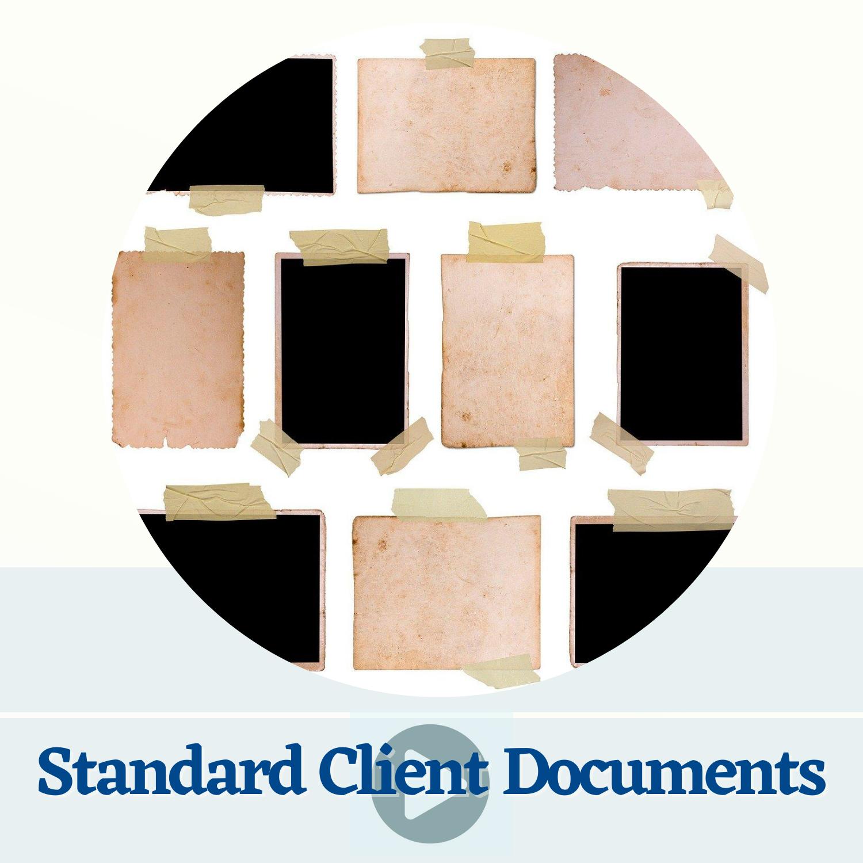 Standard Client Documents